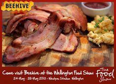 We'll be at the Wellington Food Show. May 2013 Wellington Food, Food Shows, Beehive, Steak, Pork, Kale Stir Fry, Steaks, Pork Chops, Bee Skep