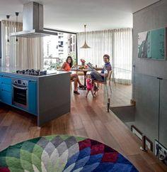 Casinha colorida: Uma cobertura em Sampa com pegada vintage