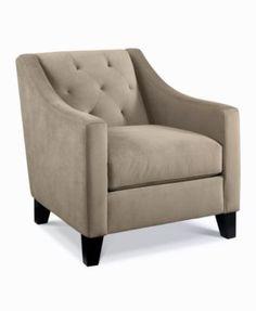 Chloe Velvet Tufted Chair, Only at Macy's | macys.com