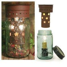 Vintage Mason 1858 Jar Stars Wax Tart Potpourri Warmer | eBay