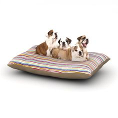 "Nika Martinez ""Summer Stripes"" Abstract Dog Bed"