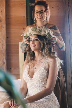 Inspi: Un mariage bohème romantique Bohemian Wedding Hair, Lace Wedding, Wedding Dresses, Bohemian Hairstyles, Wedding Hairstyles, Braids, Lifestyle, Hair Styles, Blog