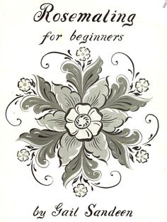 Rosemaling for beginners by Gail Sandeen book