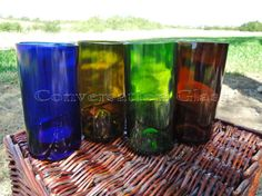 Need a little color for your table or bar? Yeah, of course you do. #winebottleglasses