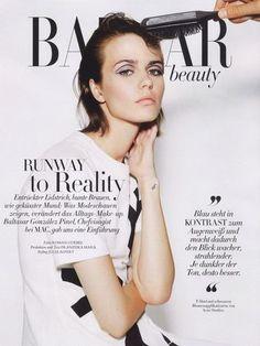 Marta Dyks by Roman Geobel for Harper's Bazaar Germany September 2014