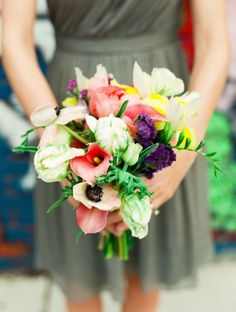 Fresh spring bouquet #weddingbouquet
