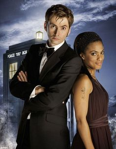 Diversity: The BBC has vehemently denied claims that Doctor Who is racist, pointing out the casting of Freema Agyeman as Martha alongside David Tennants Dr in 2006