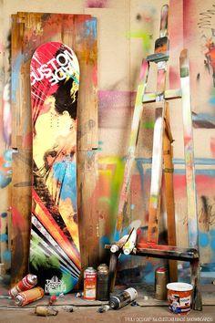 Graffiti snowboard graphics by Truly Design