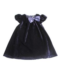 Take a look at this Darcy Brown Navy Velvet Carmen Dress - Infant, Toddler & Girls by Darcy Brown on #zulily today!