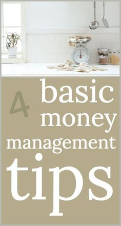Basic money management tips based on what is taught to our service members and military - planning for the future and understanding a budget