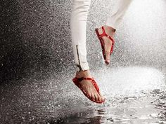 On this last day of April let's revisit Burberry's capsule collection April Showers, with a better look at the coveted accessories in the line. Ballet Shoes, Dance Shoes, Shoes Heels, Creative Shoes, Thing 1, Red Sandals, Only Shoes, Dancing In The Rain, Great Women