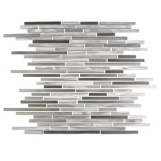 Abolos City Lights Gray x Brushed Metal Mosaic Wall Tile at Lowe's. Make your next design project extraordinary with The City Lights Collection, our premier line of Aluminum Metal tiles. Every tile is carefully made and Mosaic Bathroom, Mosaic Wall Tiles, Mosaic Backsplash, Kitchen Backplash, Kitchen Tile, Kitchen Design, Metallic Wall Tiles, Wall Installation, Aluminum Metal