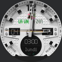 une exclu :) Une watchFace pour la moto360 aux couleurs de la vie en zen ! Pour afficher sa boutique préférée sur sa montre ;)