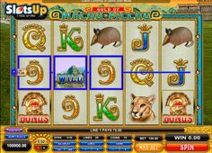 Ancient Inca's treasures are waiting for you in the Machu Picchu slot machine! @microgaming  created the wonderful 5-reel, 20-payline Machu Picchu slot full of interesting features, Incas and South American plants and animals. Accumulate free spins in the Lama Deification feature, get random multipliers and free spins in the Gather Inca's Riches round and use Wild and Bonus icons. The ancient town opens its secrets at www.SlotsUp.com