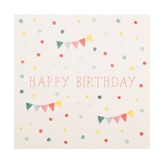 Greeting Card: Happy Birthday Bunting   All Products   Cards & Wrapping   Cards   Shop   kikki.K Stationery & Gifts