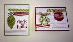 Washi Tape & Ornament Keepsakes