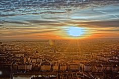 Lyon France - early in a morning of January by larduin