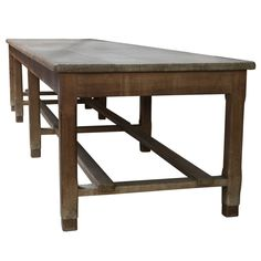 large craft table | Large Eight Leg Work / Dining Table