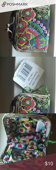 "Vera Bradley ""Symphony in Hue"" contact case NWT This Vera Bradley contact case is NWT.  super cute! Vera Bradley Bags Cosmetic Bags & Cases"