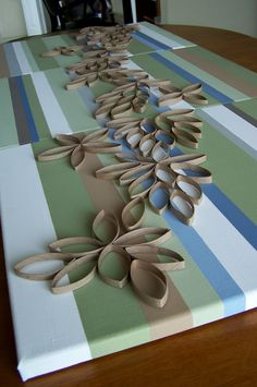 repurpose relove: Recycled Toilet Paper Roll Paintings