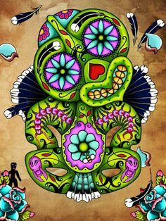 Cavalera Tiki - Lester Hall Art