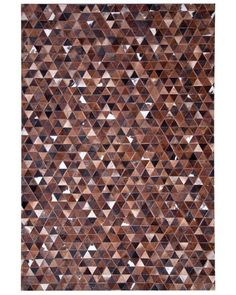 Exotic Triangle Imported Hairon Leather Carpet איתמר שטיחים