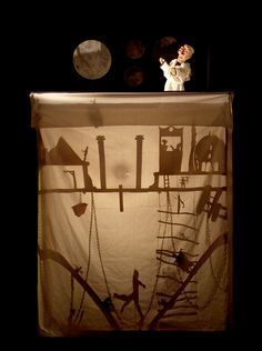 bigger scale shadow puppets - making frames as big as they want / animaker Shadow Film, Shadow Art, Shadow Play, Puppet Costume, Marionette Puppet, Shadow Theatre, Toy Theatre, How To Make Frames, Making Frames