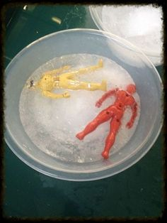 how to release a power ranger from ice #abcdoes #talkprompt #eyfs