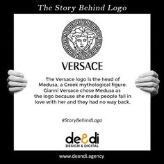 The Versace logo story.  Know the story and meaning behind the world famous logos. #storybehindthelogo #versace #story #logo #design #graphicdesign #art #company #graphicdesigner #advertising #marketing #branding #brand #graphic #product #brandidentity #logodesigner #storybehindlogo #ads #designer #illustrator #artist #marketingagency #digital #digitalmarketing #agency #enterpreneur #marketinggenius #logomaker #storytelling