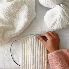 working in rib stitch, using Feeling Good yarn by Wool and the Gang. The yarn pictured here is in Ivory White. This yarn is perfect for soft winter knits, and for beginner crafters all the way to advanced. Holiday Sweater, Childproofing, Ivory White, Cosy, Feel Good, Child Proof, Stitch, Feelings, Knitting