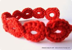 Braccialettino a punto bolle fatto in pochi minuti al Mammacheblog « Alessia, scrap & craft...Alessia, scrap & craft…