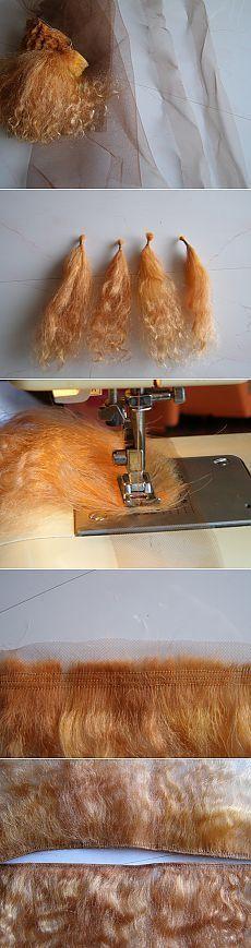 Изготовление трессов из козьего меха - туториал от Алушка