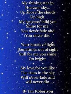 My Shining Star in Heaven's Sky.....