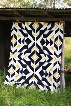 Nightingale Quilts: NEW FREE PATTERN: Bravo Indigo Quilt