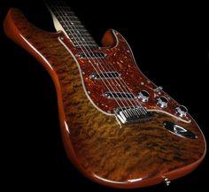 Fender Custom Shop Quilt Maple Top Artisan Stratocaster Electric Guitar Tiger Eye