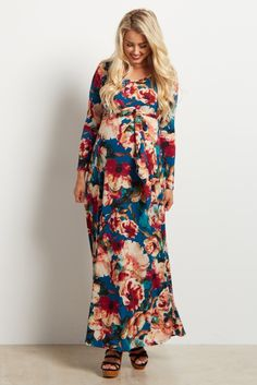 Take a look at this PinkBlush Teal Floral Sash-Tie Maternity Maxi Dress today! Maternity Shoot Dresses, Maternity Fashion, Maternity Maxi, Pregnancy Outfits, Pregnancy Fashion, Pregnancy Tips, Baby Shower Dresses, Pink Blush Maternity, Floral Maxi Dress