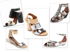 silver strapped sandals for spring