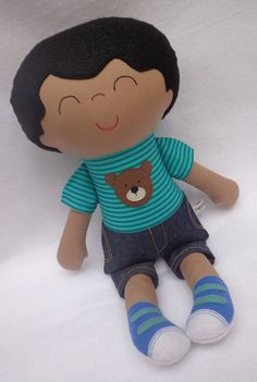 Peter toy for boy Soft Cloth Fabric Doll by dollsfofurasbyleila