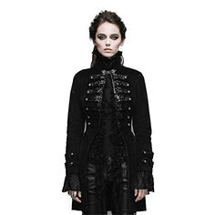 Steampunk Women Winter Coat Gothic Long Cotton Jacket