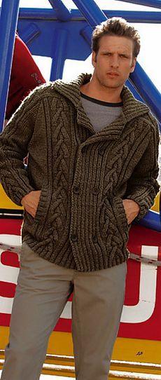 Knitting Patterns Cardigan MADE TO ORDER men hand knitted cardigan turtleneck sweater Knit Jacket, Knit Cardigan, Hand Knitted Sweaters, Mens Jumpers, Pulls, Hand Knitting, Knitting Patterns, Knitwear, Men Sweater