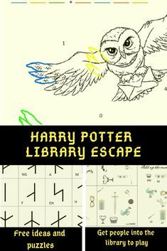Harry Potter Library Escape - Find great ideas on how to create a quick Harry Potter themed escape room for your (school) library - École Harry Potter, Harry Potter Library, Classe Harry Potter, Harry Potter Book Covers, Harry Potter Classroom, Harry Potter Birthday, Harry Harry, Escape Room Design, Escape Room Diy