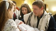 After circumcision Brit milah) wich is followed by a celebratory meal (seudat mitzvah).