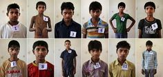 Child laborers recently rescued from a factory in New Delhi