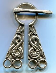 Brooches, Closures & Implements - Dragonscale Jewelry & Fine Arts ////norse chatelaine upon which to attach scissors, keys, etc.