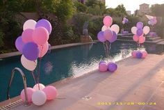 Cute for pool party Decoration Birthday, Pool Party Decorations, Party Themes, Party Ideas, 6th Birthday Parties, Birthday Fun, Birthday Ideas, Luau Anniversary Party, Ideas Bautizo