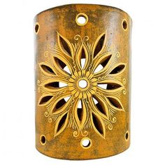 Absolutely love these rustic wall sconce covers! These stunning ceramic covers will brighten up any wall inside or outside your home. Handmade in Jalisco, Mexico, these beautiful ceramic sconces are carefully crafted using traditional potters guild processes. Each is striking in its detail and design. Accent sconce lighting is perfect for creating a warm and inviting atmosphere with a southwestern feel.