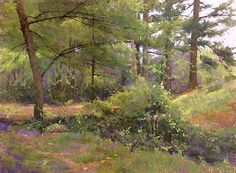 In the Forest Interior by Jacob Aguiar Pastel ~ 24 x 32