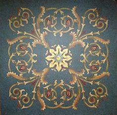 Hermitage Acanthus Coffer Stencil