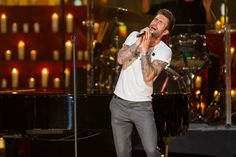 adam levine a very grammy christmas | Adam Levine of Maroon 5 performs onstage during A Very GRAMMY ...
