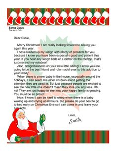 Easy free letter from santa magical package printable letters santa letter new baby in the house printable letters from santa free to download and spiritdancerdesigns Images